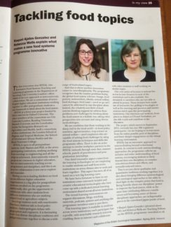 IFSTAL featured in the magazine of the British Sociological Association