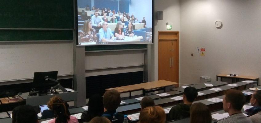 Students 'meet' via the livestream